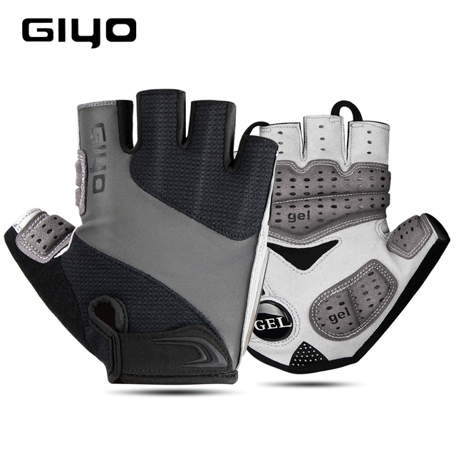 Giyo luvas sem dedos para ciclismo, luva de gel respirável para homens e mulheres para esportes ao ar livre, mtb, corrida de estrada e ciclismo dh 1