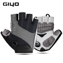 GIYO Bicycle Gloves Half Finger Outdoor Sports Gloves For Men Women Gel Pad Breathable MTB Road Racing Riding Cycling Gloves DH(China)