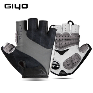 Image 1 - GIYO Bicycle Gloves Half Finger Outdoor Sports Gloves For Men Women Gel Pad Breathable MTB Road Racing Riding Cycling Gloves DH