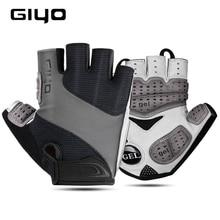 GIYO gants de vélo demi doigt Sports de plein air gants pour hommes femmes Gel Pad respirant vtt course sur route équitation gants de cyclisme DH