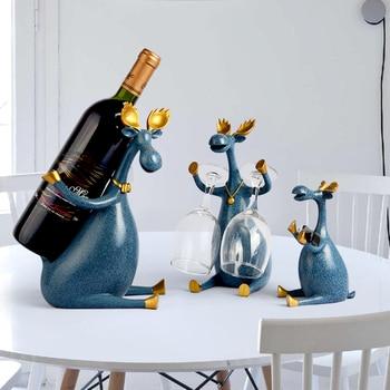 Creative deer shape Resin Wine Rack Hanging Wine Glass Holder Bar Stand Bracket Display Stand Bracket Decor