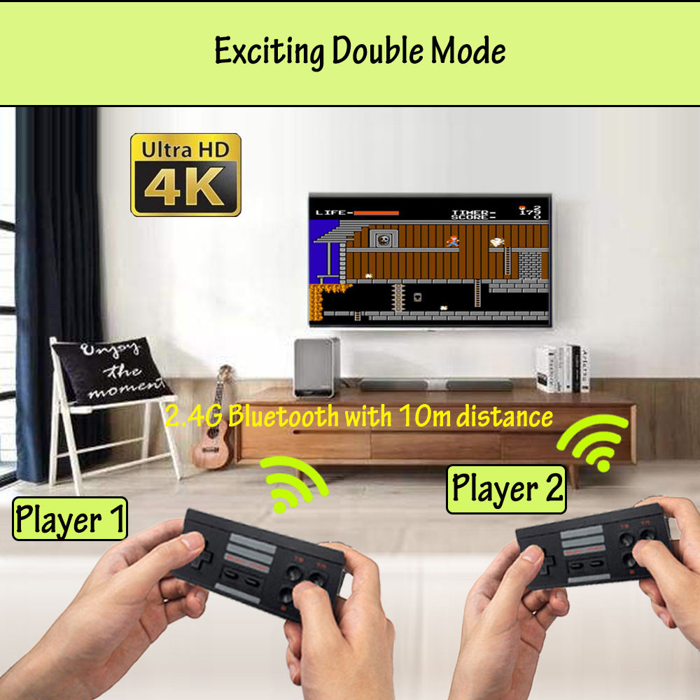 4K Mini TV 8 Bit Retro 568 Games Handheld Gaming Player HDMI Remote Wireless Video Game Console Toys Gifts for FC / NES Games image