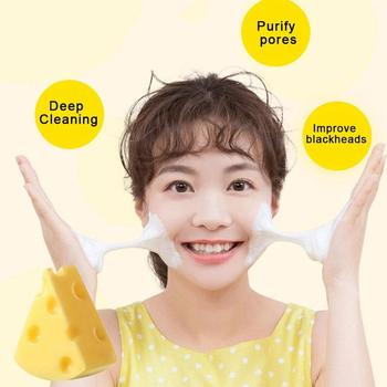 Newest 60g Mini Cheese Handmade Sea salt  Soap Face Body Cleaner Removal Pimple Acne Treatment Skin Care Whitening Soap TSLM1 rose soap 100% natural handmade 120g hair skin beauty whitening moisturizing cleaner antibacterial acne treatment
