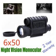 WG650 Nightการล่าสัตว์ดิจิตอลอินฟราเรด 6X50 Night Vision Monocular 200M Night Visionกล้องโทรทรรศน์ภาพวิดีโอ