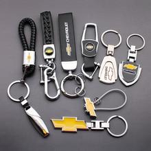 Автомобильные брелки для ключей, брелок для Chevrolet Cruze Lacetti Niva Aveo T250 Cobalt Captiva Trax Malibu эмблемы, аксессуары для автостайлинга