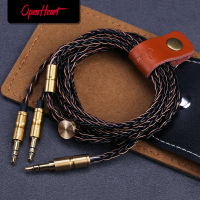 OPENHEART 8 Core Kabel für Kopfhörer 1 zu 2 jack 3.5/2.5/4,4mm Balance Upgrade Ersatz Silber kabel 1,4 m Persönlichkeit