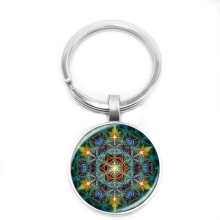 цены на 2019 New Multicolor Flower Life Keychain Glass Cabochon Om Mandala Yoga Jewlery Buddhist Gift Trend Retro...  в интернет-магазинах