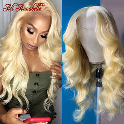 613 Lace Front Wig Pre Plucked With Baby Hair Brazilian Body Wave Wig 13X6 Blonde Lace Front Human Hair Wigs for Black Women