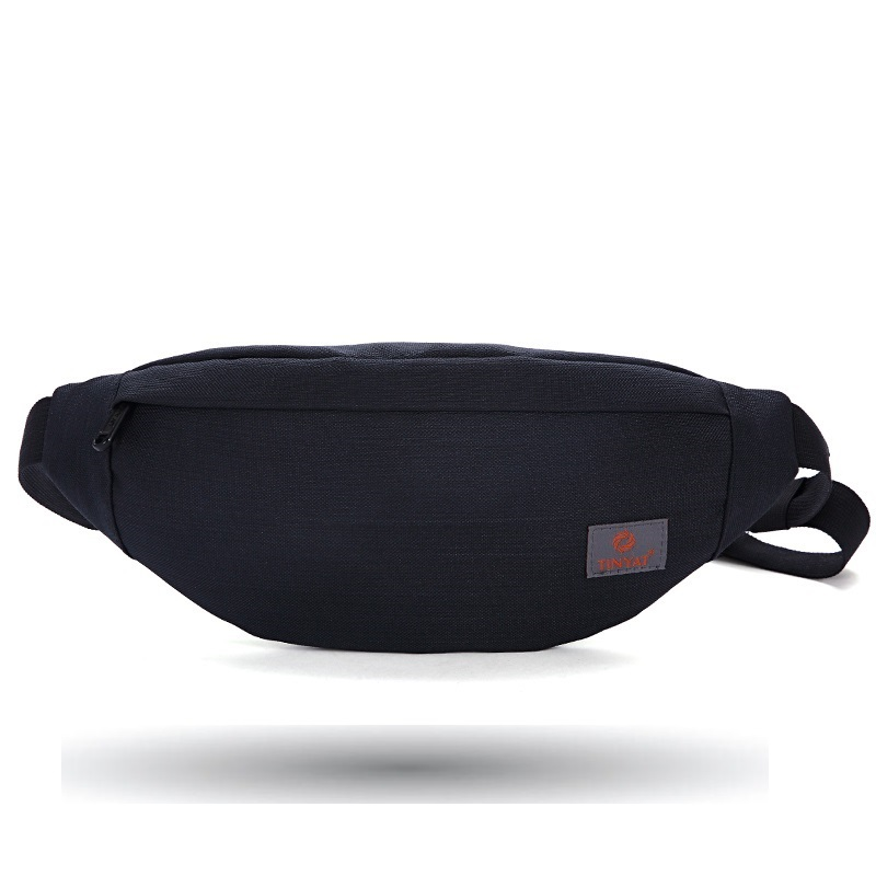TINYAT New Men Casual Waist Pack Bag Brand Canvas Shoulder Fanny Packs Women Belt Bag Pouch For Money Phone Black Bum Hip Bag