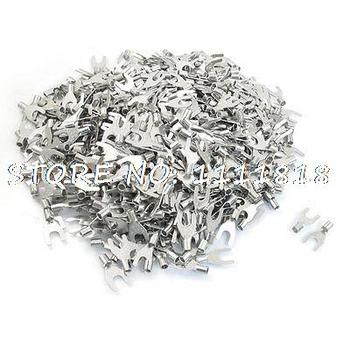 SNB5.5-6L Fork Type Non-Insulated Spade Cable Terminals 1000pcs for AWG 12-10