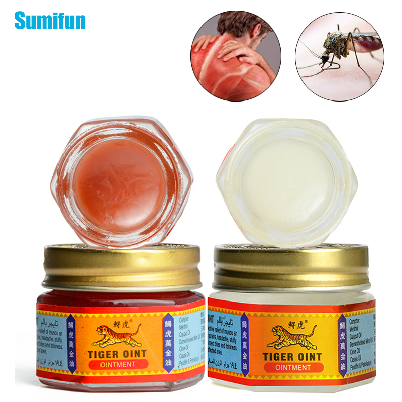 1Piece 100% Original Red/White Tiger Balm Ointment Muscle Back Neck Pain Relief Arthritis Skin Care Refresh Cream
