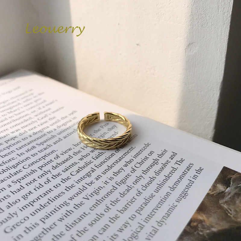 Leouerry Đơn Giản Nữ Thần Hy Lạp Cành Ô Liu Mở Nhẫn Nữ Bạc 925 Sáng Tạo Xoắn Cho Nữ, Nhẫn Nữ Bạc 925 Trang Sức