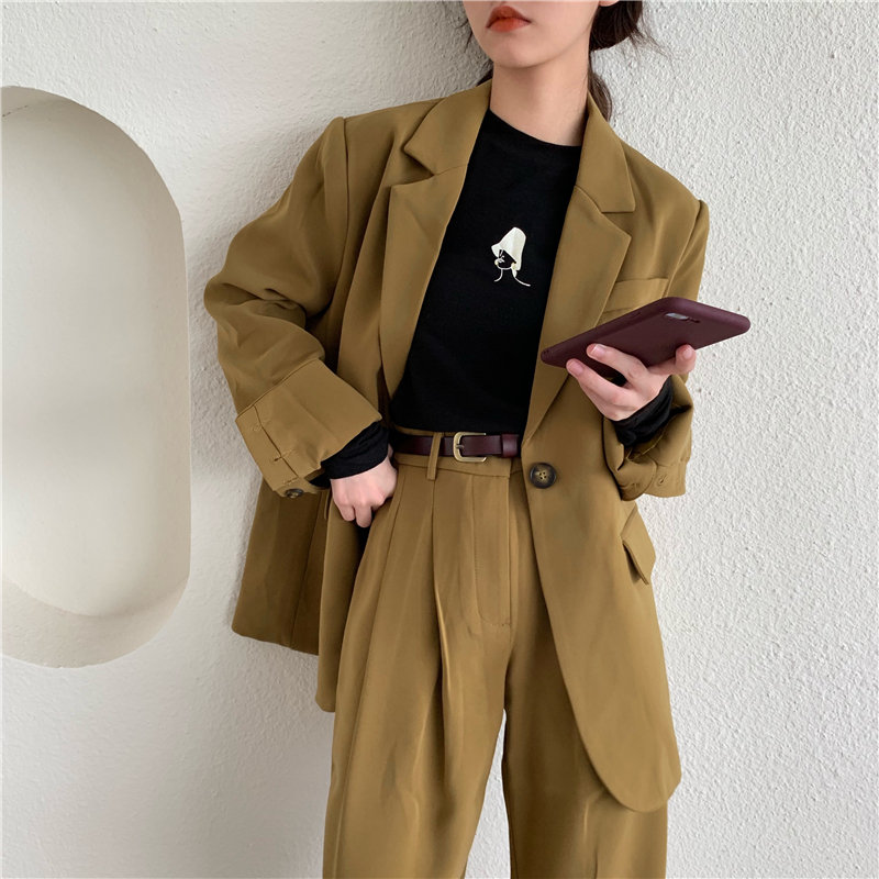 HziriP New Autumn Slender Office Lady Casual 2019 Feminine Large Size High Street Women Fresh Elegant All Match Loose Blazers