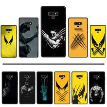Wolverine Marvel Hero original cool Phone Case For Samsung Galaxy S8 S9 S10 Plus Lite S10E Note 3 4 5 6 7 8 9 10 Pro cover(China)