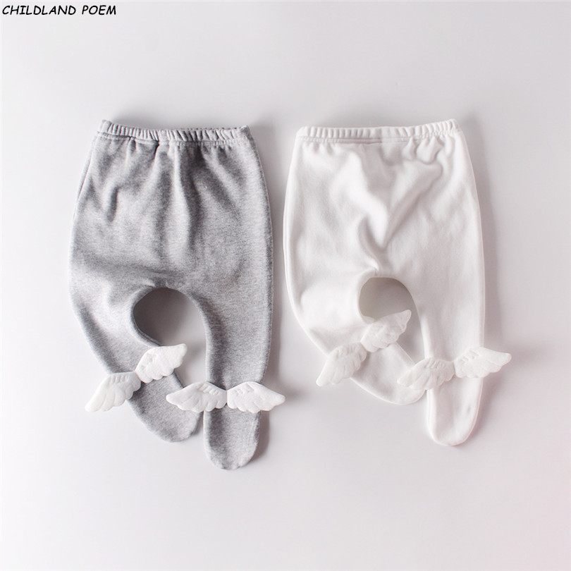 Baby Pants Winter Newborn Baby Legging Pants Trousers Thick Fleece Princess Baby Girl Leggings Angel Wings Baby Pantyhose 1 2Y|Pants|   - AliExpress