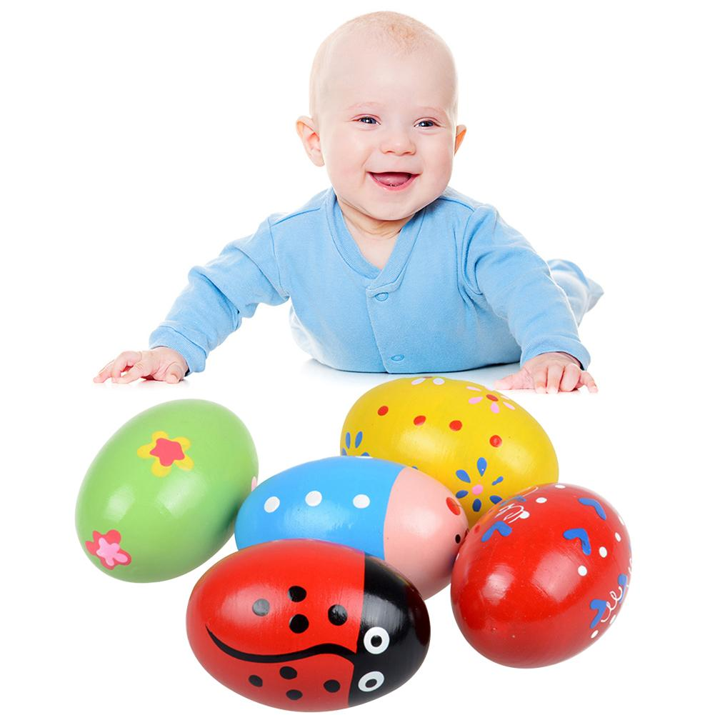 Cars Baby Toy Toddler Baby Wood Beetle Sand Egg Musical Instrument Educational Rattle Toy