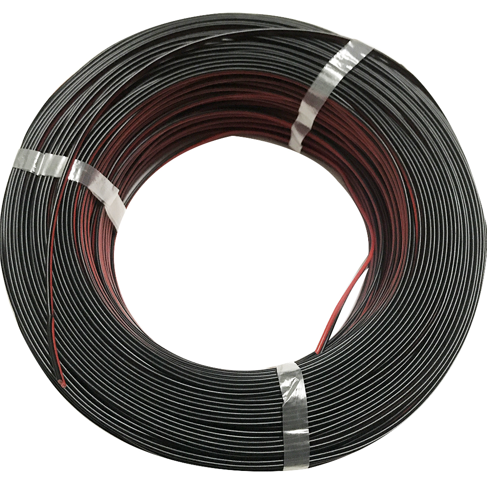 30 Meters UL2468 <font><b>2pin</b></font> <font><b>20AWG</b></font> Red Black Tined Cable LED Flexible Strip PVC High Temperature Oxidation Resistance Parallel Lines image