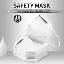 Shipping in 24 hours 10PCS Anti Pollution KN95 Mouth Mask Dust Respirator Disposable Face Mouth Masks Mouth Earloops Masks