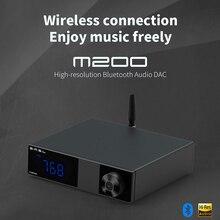 SMSL M200 usb dac bluetooth ak4497EQ hifi dac xmos dac 2020 new arrival audio decoder with remote control lcd1602 soft control display cs8416 dual wm8741 dac decoder