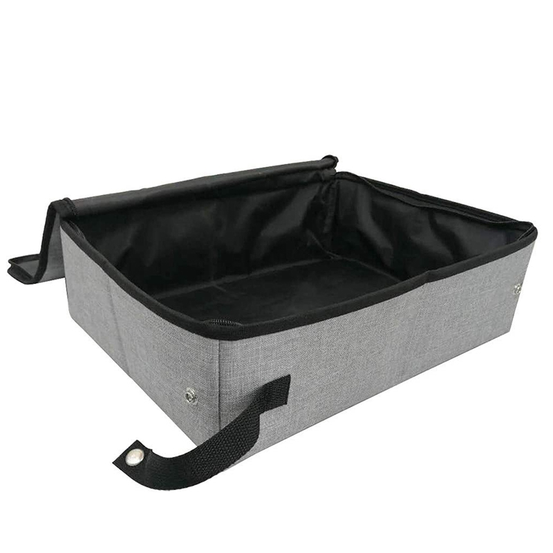 Collapsible Portable Cat Litter Box for Travel Light Weight Foldable