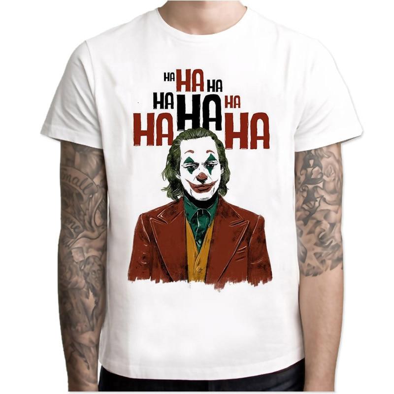 2019 Joker Joaquin Phoenix T Shirt Short Sleeve Boy/girl/kids Top Short Tees Men T-shirt Halloween Horror Funny Oversize TShirt