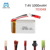 Hobby Hub 7 4 V 1000 mah 25c 2s Lipo Batterie Für MJXRC X600 Lipo Batterie 7 4 v 1000 mah 703048 fernbedienung spielzeug batterie|Teile & Zubehör|Spielzeug und Hobbys -