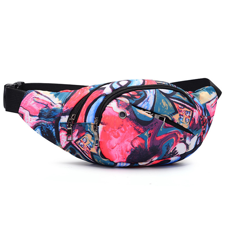 Stylish Multi-functional Waterproof Polyester Women Belt Fanny Pack Waist  Chest Bag   For Outdoor Sports Running