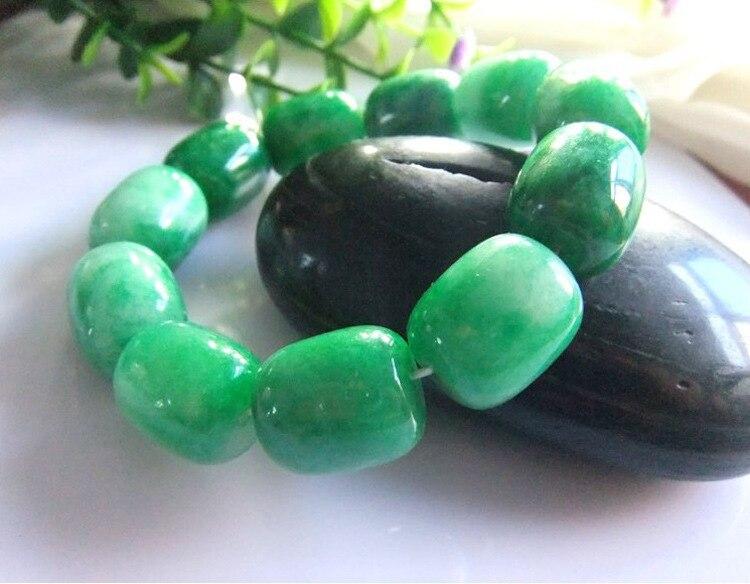 100% real Natural green jade bracelet handmad 5A Emerald Hand carved jadeite bracelets women men bracelet jade jewelry
