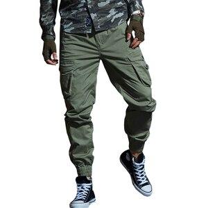 Image 1 - זרוק משלוח 2020 סתיו טקטי גברים של מכנסיים מטען מזדמן רב כיס צבאי מכנסיים ארוך מכנסיים 29 38 AXP127