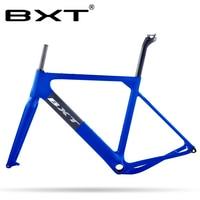 Novo quadro de cascalho carbono 27.5er/700c bb386 cascalho estrada mountain bike quadro disco cyclocross bicicleta conjunto de quadros através do eixo 142*12mm|  -
