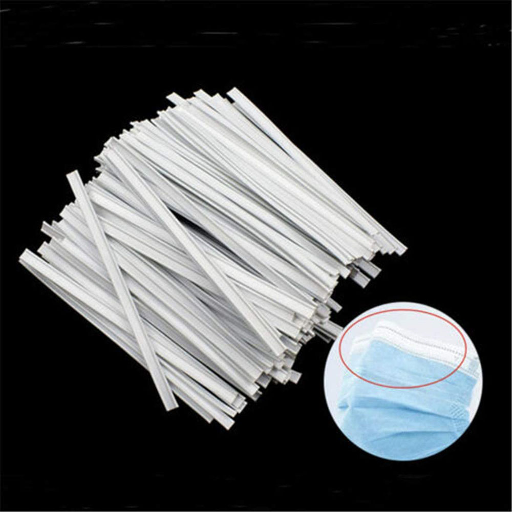 200PCS Plastic Strips Nose Wire,Double Wire Nose Bridge for Mask,8CM Flat Nose Clips Nose Bridge Bracket DIY Wire for Sewing Crafts