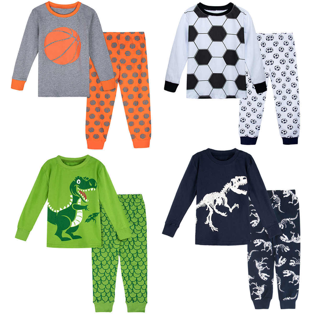 Kids Boys Dinosaur Pajamas Set Toddler Christmas Pjs Children Thanksgiving Xmas Sleepwear Child Pirate Sailor Nightwear title=