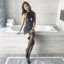 Sexy Cosplay Women Costume Erotic Office School Teacher Uniform Suit Hot Perspective Role Play Sexy Skirt for Sex(China)