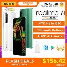Realme 6i 4GB RAM 128GB ROM Handy Globale Version 5000mAh Batterie 6.5