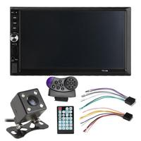 7012B 7 Inch DOUBLE 2DIN Car MP5 Player BT Touch Screen Stereo Radio Multimedia player 4 Light Camera Direction Control