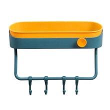 Стеллаж для хранения ванной комнаты двухслойный настенный органайзер