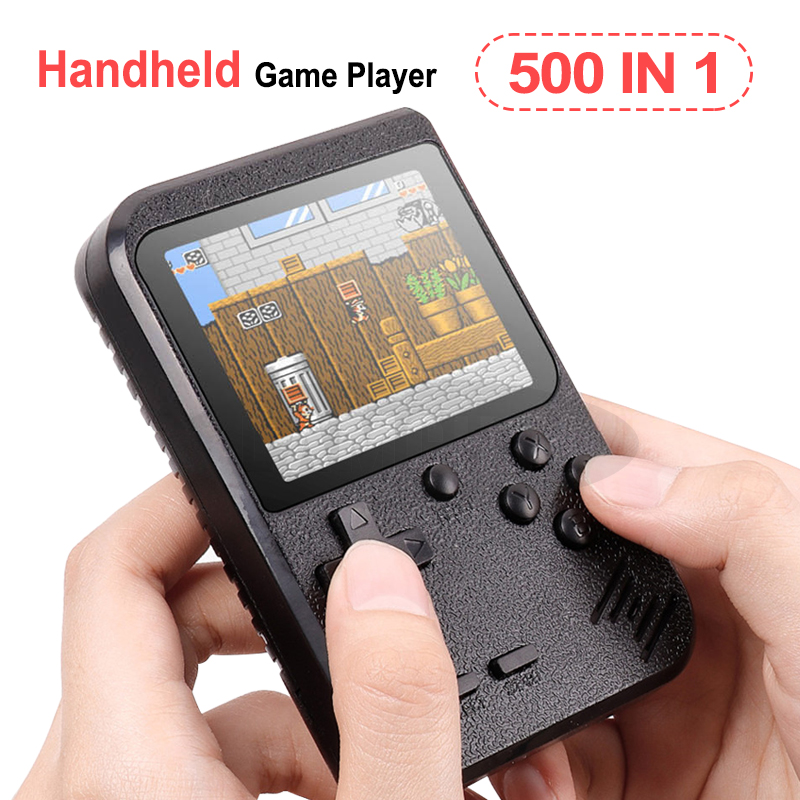 Portable Mini Retro Game Console Handheld Game Player 3.0 Inch 500 Games IN 1 Pocket Game Console image