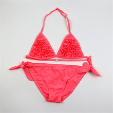 New model Girls two piece Swimwear Cake layer Bikini Set 6-16 Y Kids Children Swimming wear Two Pieces Girl Swimsuit