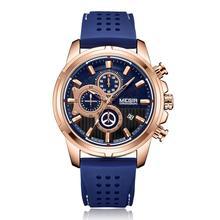цена на MEGIR 2019 Relogio Masculino Watch MENmulti-function large dial silicone sports men's watch quartz wristwatch