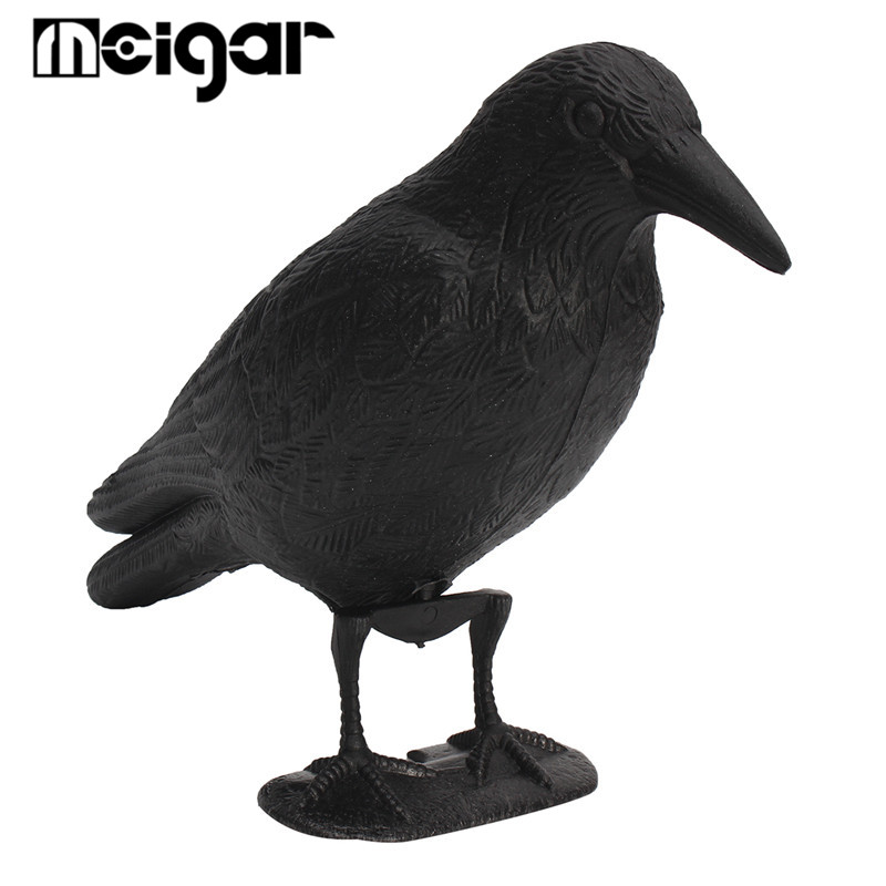 NEW Black Plastic Crow Hunting Decoy Garden Yard Bird Deter Scarer Scarecrow Mice Waterproof Pest Control Deterrent Repeller(China)