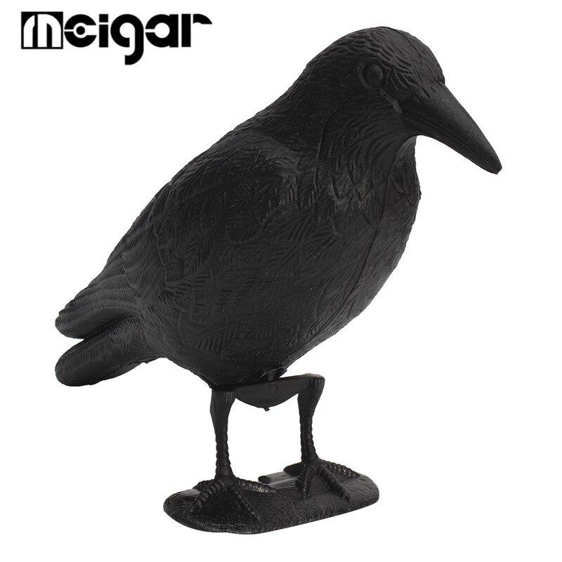NEW Black Plastic Crow Hunting Decoy Garden Yard Bird Deter Scarer Scarecrow Mice Waterproof Pest Control Deterrent Repeller