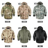 Military Thermal Warm Jacket Camouflage Hunting Outerwear with Hooded Hiking 3 In 1 Removable Shark Skin Windbreaker