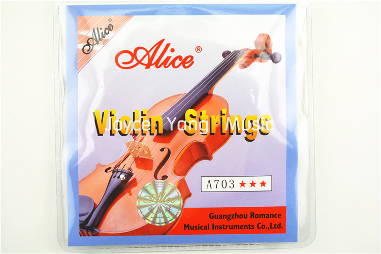 XFDZ 1 Set Violin Strings High Quality 4 Pieces E A D G For 1/8 1/4 1/2 3/4 4/4 Common Size - Alice A703