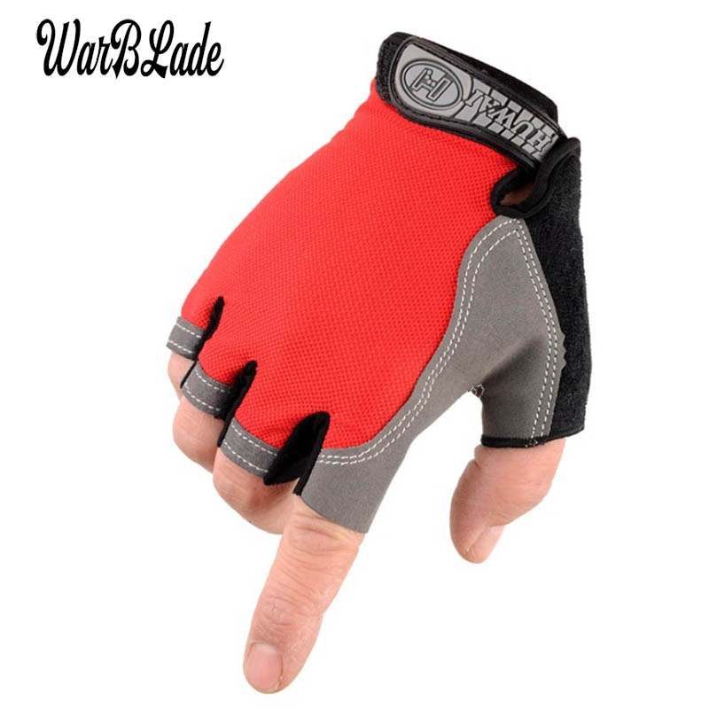 WBL 2019 New Hot Non-Slip Fingerless Gloves Men Women Half Finger With Gel Padded Lycra Work Out Mittens Guantes Mujer