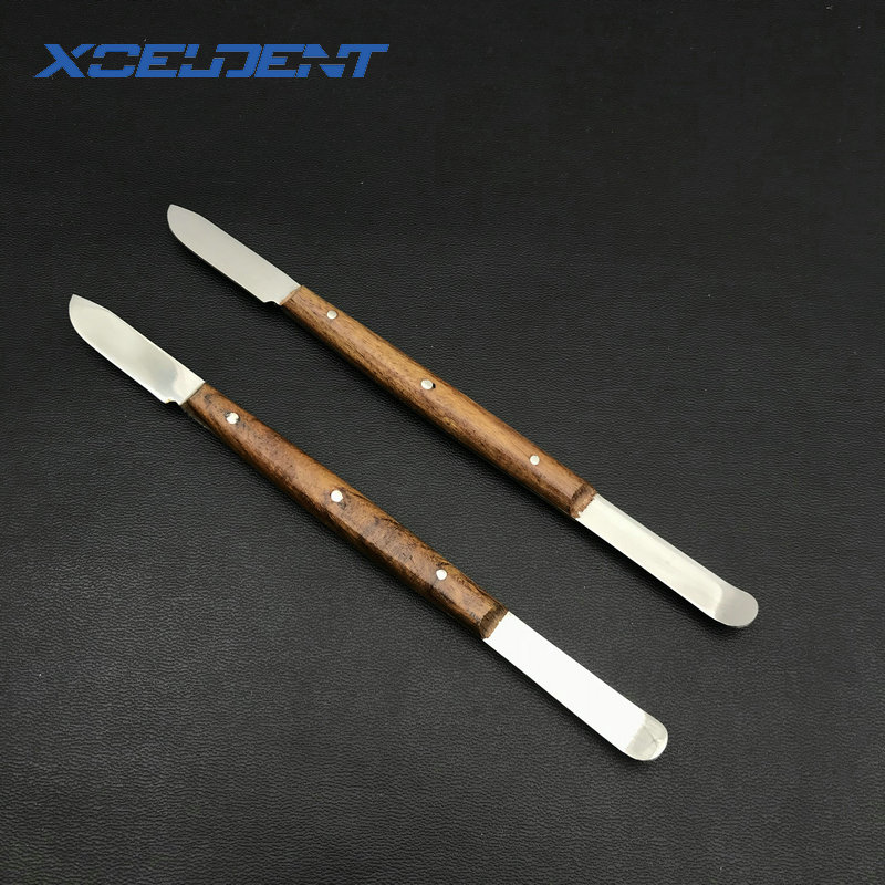 2pcs Dental Lab Impression Material Plaster Spatula Wax Knife Blade Cutter