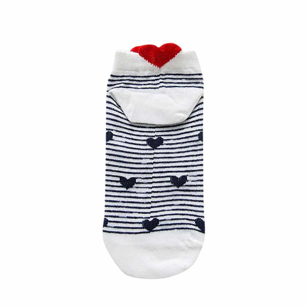 Meias femininas coração vermelho bonito faculdade vento simples básico engraçado feminino meias de algodão quente primavera verão harajuku sox menina meias