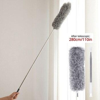 Выдвижной пыли Duster ультра длинные 0,8 2,8 m щетка из микроволокна бытовой Нержавеющаясталь произвольный изгиб Gap инструмент для очистки Пыльная тряпка      АлиЭкспресс