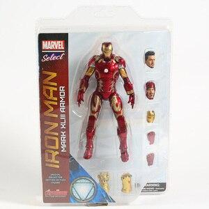 Image 3 - Figuras de acción de Marvel Select, Iron Man, MK43, Mark XLIII, muñecos de juguete, Brinquedos, modelo regalo de colección