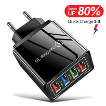 Carga rápida 3.0 carregador usb para a parede do iphone carregamento rápido para samsung s10 plug xiaomi mi huawei carregadores do telefone móvel adaptador