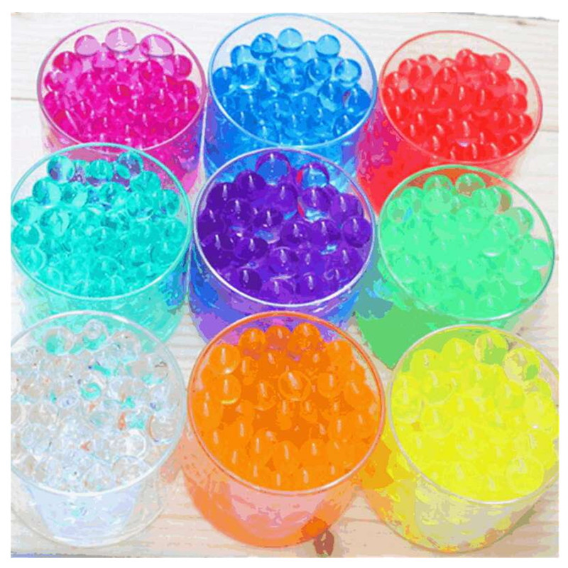 500pcs/bag magic Crystal Soil Mud Children Toy Water Beads for kids Growing Up orbeez Water Balls Wedding Home Decor Potted image